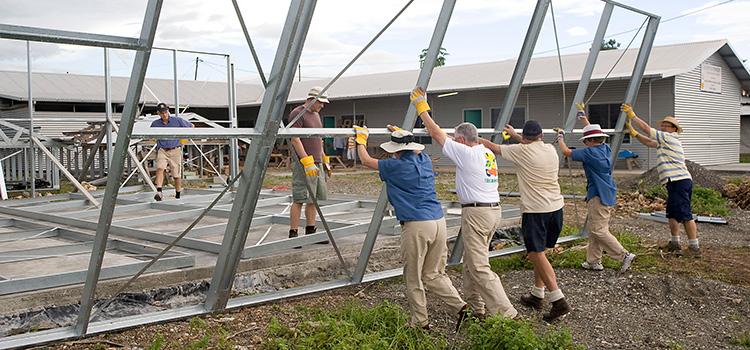 Installing a building frame